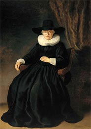 Mevr. Johannes Elison (Maria Bockenolle), 1634 by Rembrandt | Painting Reproduction