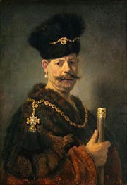 A Polish Nobleman, 1637 by Rembrandt | Painting Reproduction