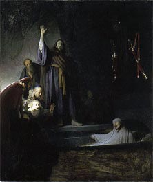 The Raising of Lazarus, c.1630 by Rembrandt | Painting Reproduction