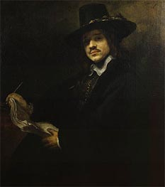 Portrait of a Young Artist, c.1647 by Rembrandt | Painting Reproduction