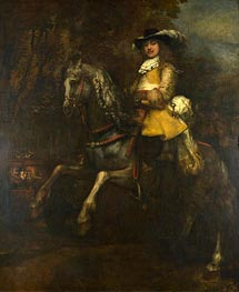 Portrait of Frederick Rihel on Horseback, c.1663 by Rembrandt | Painting Reproduction