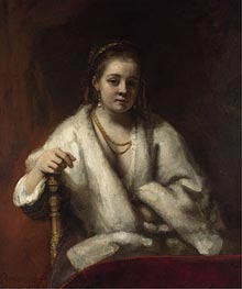 Portrait of Hendrickje Stoffels | Rembrandt | Gemälde Reproduktion