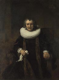 Portrait of Margaretha de Geer, Wife of Jacob Trip  from Portraits of Jacob Trip and his Wife Margaretha de Geer | Rembrandt | Gemälde Reproduktion