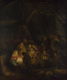 The Adoration of the Shepherds | Rembrandt | Gemälde Reproduktion
