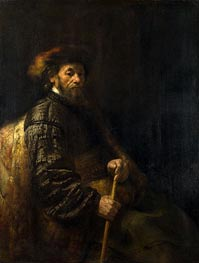 A Seated Man with a Stick | Rembrandt | veraltet