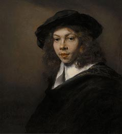 Portrait of a Young Man | Rembrandt | Gemälde Reproduktion