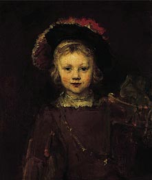 Portrait of a Boy | Rembrandt | Gemälde Reproduktion