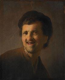 Laughing Young Man (Self Portrait) | Rembrandt | Gemälde Reproduktion