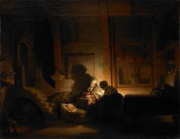 The Holy Family at Night | Rembrandt | Gemälde Reproduktion