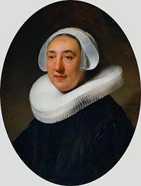 Portrait of Haesje Jacobsdr of Cleyburg, 1634 by Rembrandt | Painting Reproduction