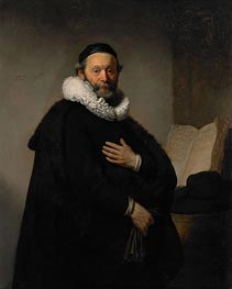 Portrait of John Wtenbogaert, 1633 by Rembrandt | Painting Reproduction