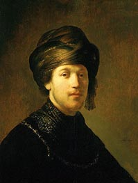 A Young Man Wearing a Turban, 1631 by Rembrandt | Painting Reproduction