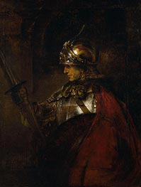 A Man in Armour, 1655 by Rembrandt | Painting Reproduction