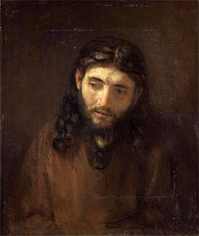 Head of Christ, c.1648/56 by Rembrandt | Painting Reproduction