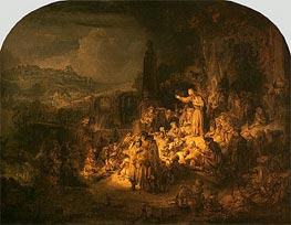 Preaching of St John the Baptist, c.1634 by Rembrandt | Painting Reproduction