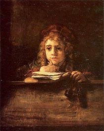 Titus, 1655 von Rembrandt | Gemälde-Reproduktion