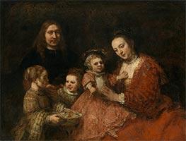 Family Portrait, c.1663/68 von Rembrandt | Gemälde-Reproduktion
