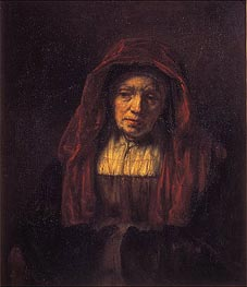 Portrait of an Old Woman, 1654 von Rembrandt | Gemälde-Reproduktion