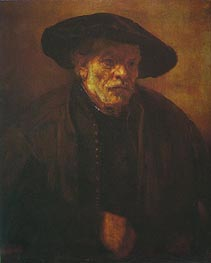 Portrait of Rembrandt's Brother Andrien van Rijn, 1654 von Rembrandt | Gemälde-Reproduktion
