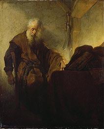 St Paul at his Writing-Desk, c.1629/30 von Rembrandt | Gemälde-Reproduktion