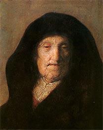 Portrait of Mother of Rembrandt, c.1630 von Rembrandt | Gemälde-Reproduktion