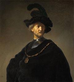Old Man with a Gold Chain, 1631 von Rembrandt | Gemälde-Reproduktion