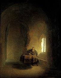 Philosopher Reading, 1631 von Rembrandt | Gemälde-Reproduktion