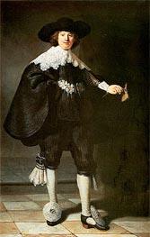 Portrait of Marten Soolmans, 1634 von Rembrandt | Gemälde-Reproduktion