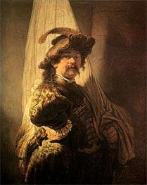 Standard Bearer, 1636 von Rembrandt | Gemälde-Reproduktion