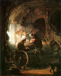 Tobias Cured With His Son, 1636 von Rembrandt | Gemälde-Reproduktion