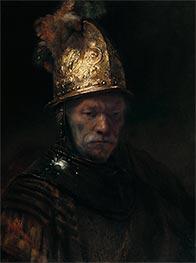 The Man with the Golden Helmet, 1636 von Rembrandt | Gemälde-Reproduktion