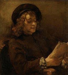 Titus Reading, c.1656/57 von Rembrandt | Gemälde-Reproduktion