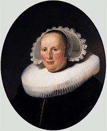 Portrait of Maertgen van Bilderbeecq, 1633 von Rembrandt | Gemälde-Reproduktion
