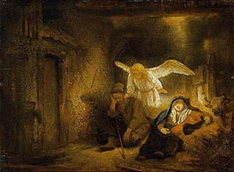 The Dream of St Joseph, 1645 von Rembrandt | Gemälde-Reproduktion