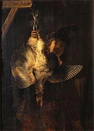 Self Portrait with Bittern, 1639 von Rembrandt | Gemälde-Reproduktion