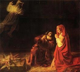 The Sacrifice of Manoah, 1641 von Rembrandt | Gemälde-Reproduktion