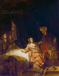 Joseph Accused by Potiphar's Wife, 1655 von Rembrandt | Gemälde-Reproduktion