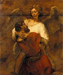 Jacob Wrestling with the Angel, c.1659/60 von Rembrandt | Gemälde-Reproduktion