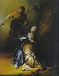 Samson and Delilah, c.1628 von Rembrandt | Gemälde-Reproduktion