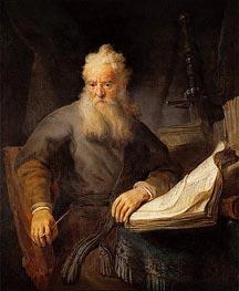 Apostle Paul, c.1633 von Rembrandt | Gemälde-Reproduktion