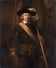 The Standard Bearer (Floris Soop), 1654 von Rembrandt | Gemälde-Reproduktion