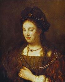 Saskia, 1643 von Rembrandt | Gemälde-Reproduktion