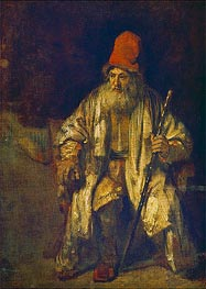 The Old Man with the Red Cap, undated von Rembrandt | Gemälde-Reproduktion