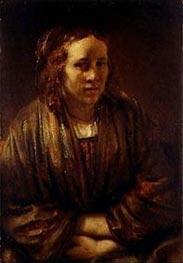 Portrait of Hendrickje Stoffels, undated von Rembrandt | Gemälde-Reproduktion