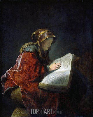 The Prophetess Anna (known as Rembrandt's Mother), 1631 | Rembrandt| Gemälde Reproduktion