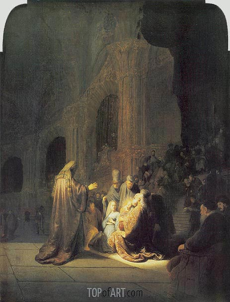 Simeon in Temple, 1631 | Rembrandt| Painting Reproduction