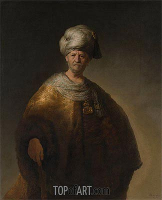 Man in Oriental Costume (The Noble Slav), 1632 | Rembrandt | Gemälde Reproduktion
