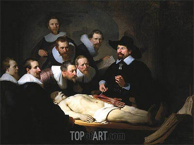 The Anatomy Lecture of Dr. Nicolaes Tulp, 1632 | Rembrandt | Gemälde Reproduktion