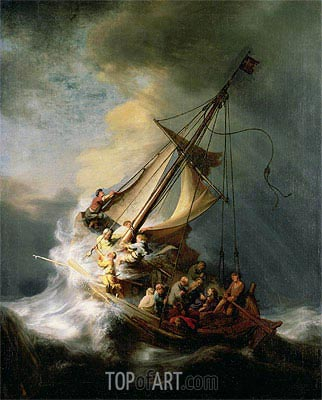 Storm on the Sea of Galilee, 1633 | Rembrandt| Painting Reproduction