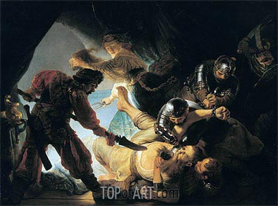 The Blinding of Samson, 1636 | Rembrandt| Painting Reproduction